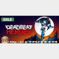 Deadbeat Heroes Steam Key 🔑 / Worth $14.99 / 𝑳𝑶𝑾𝑬𝑺𝑻 𝑷𝑹𝑰𝑪𝑬 / TYL3RKeys✔️