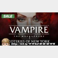 Vampire: The Masquerade - Coteries of New York Steam Key 🔑 / Worth $19.99 / 𝑳𝑶𝑾𝑬𝑺𝑻 𝑷𝑹𝑰𝑪𝑬 / TYL3RKeys✔️