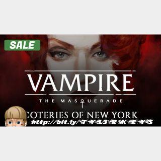 Vampire: The Masquerade - Coteries of New York Steam Key 🔑 / Worth $19.99 / 𝑳𝑶𝑾𝑬𝑺𝑻 𝑷𝑹𝑰𝑪𝑬 / TYL3RKeys✔️