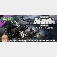 Arma 3 Marksmen Steam Key 🔑 / Worth $9.99 / 𝑳𝑶𝑾𝑬𝑺𝑻 𝑷𝑹𝑰𝑪𝑬 / TYL3RKeys✔️