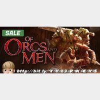 Of Orcs And Men Steam Key 🔑 / Worth $13.99 / 𝑳𝑶𝑾𝑬𝑺𝑻 𝑷𝑹𝑰𝑪𝑬 / TYL3RKeys✔️