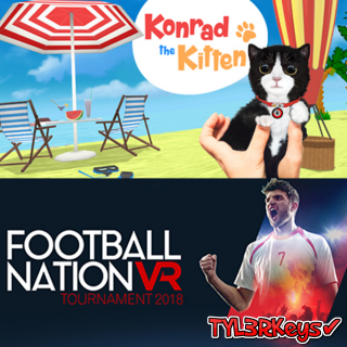 𝟮 𝗩𝗥 𝗚𝗔𝗠𝗘𝗦 / Football Nation VR Tournament 2018 x Konrad the Kitten Steam Keys 🔑 / 𝑳𝑶𝑾𝑬𝑺𝑻 𝑷𝑹𝑰𝑪𝑬 / TYL3RKeys✔️