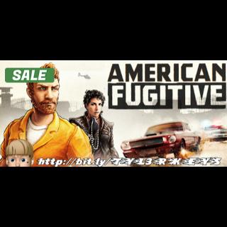 American Fugitive Steam Key 🔑 / Worth $19.99 / 𝑳𝑶𝑾𝑬𝑺𝑻 𝑷𝑹𝑰𝑪𝑬 / TYL3RKeys✔️
