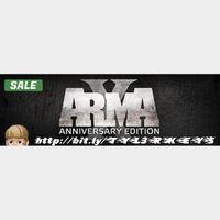 ARMA X: ANNIVERSARY EDITION Steam Key 🔑 / Worth $49.99 / 𝑳𝑶𝑾𝑬𝑺𝑻 𝑷𝑹𝑰𝑪𝑬 / TYL3RKeys✔️