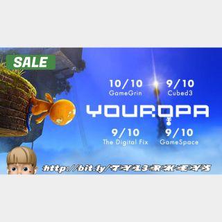 Youropa Steam Key 🔑 / Worth $19.99 / 𝑳𝑶𝑾𝑬𝑺𝑻 𝑷𝑹𝑰𝑪𝑬 / TYL3RKeys✔️