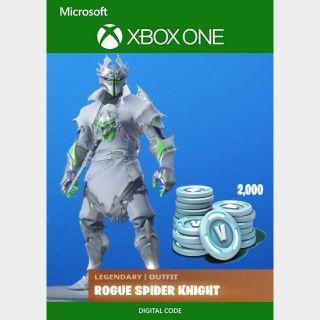 Fortnite - Rogue Spider Knight + 2000 V-Bucks Bundle (Xbox One)
