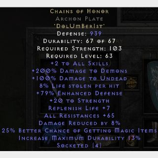Runewords   Chains of Honor (Archon)