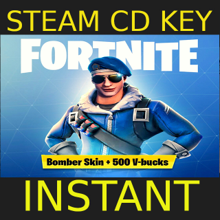 Fortnite Bomber Skin + 500 V-Bucks EU PS4 cd key