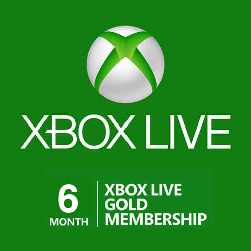 6-Month Xbox Live Gold Membership (Instant Digital Code