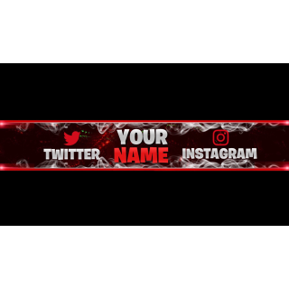 I will create a simple custom Youtube banner