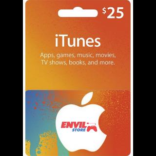 $25.00 iTunes US