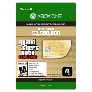 Grand Theft Auto Online: The Whale Shark Cash Card XBOX ONE XBOX LIVE GLOBAL 3 500 000 USD Key