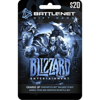✅Blizzard GiftCard 20 USD Battle.net NORTH AMERICA