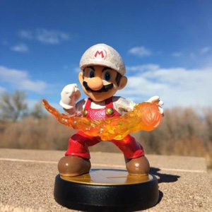 Custom Fire Mario Amiibo
