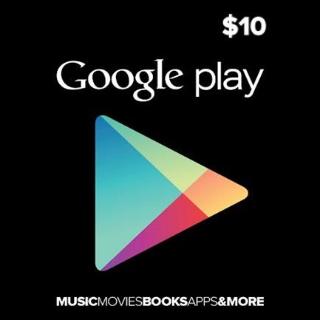 $10.00 Google Play USA