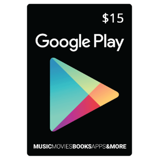 $15.00 Google Play USA