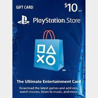 $10.00 PlayStation Store USA