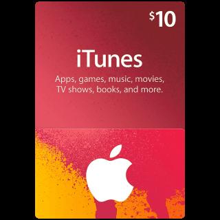 $10.00 iTunes USA