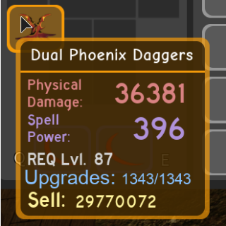 Other | DQ Duel Phoenix Daggers