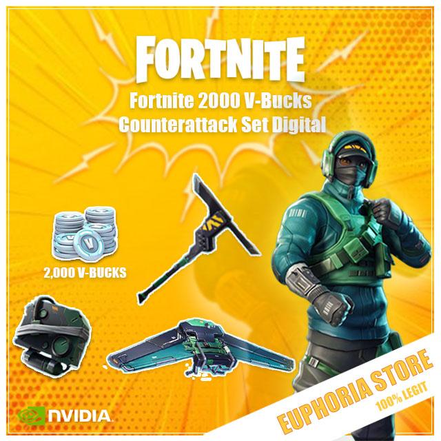 Fortnite 2000 V-Bucks + Counterattack Set | PC | XBOX | PS4