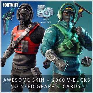 Fortnite 2000 V-Bucks + Counterattack Set | PC | XBOX | PS4 (No need Graphics Card)