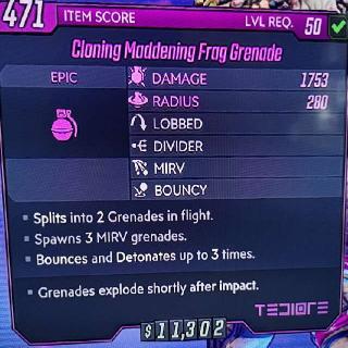 Grenade | Cloning Maddening