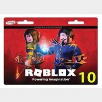 Roblox 10 Game Card Global Original PIN Works Worldwide 10 USD