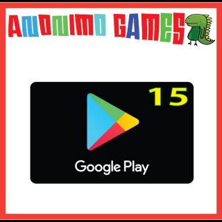 $15.00 Google Play USA ACCOUNTS ONLY!  15 Google Play
