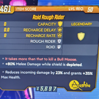 Shield | Roid Rough Rider lvl 50