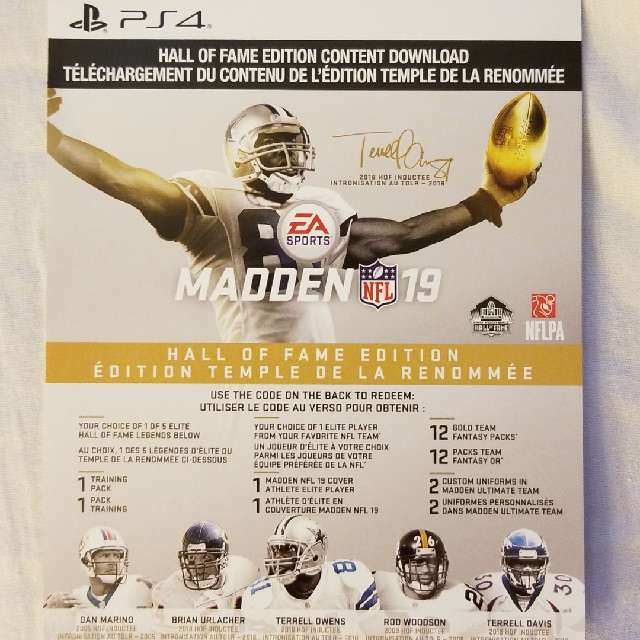 Madden 19: Hall Of Fame Edition Upgrade - PS4 Games - Gameflip