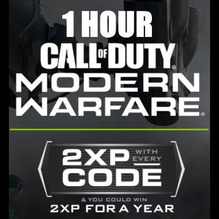 1 Hour of Double XP in CoD Modern Warfare