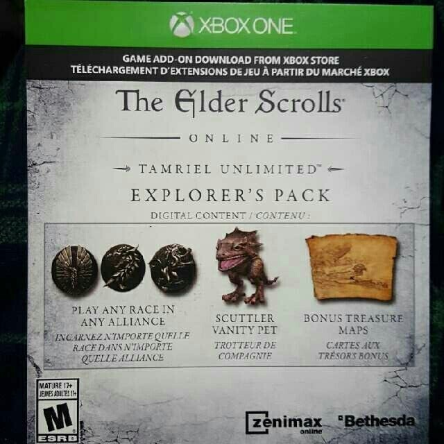 Elder Scrolls Online: Explorer's Pack DLC - XBox One Games