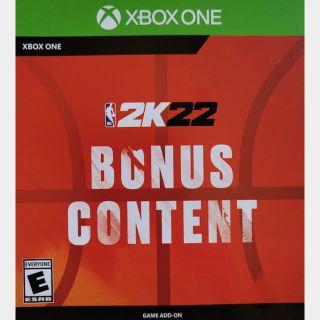 NBA 2K22 Bonus Content XBOX ONE