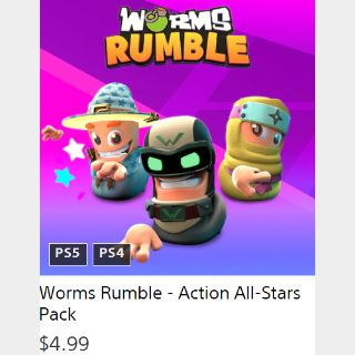 Worms Rumble-Action All-Stars Pack PS4 / PS5