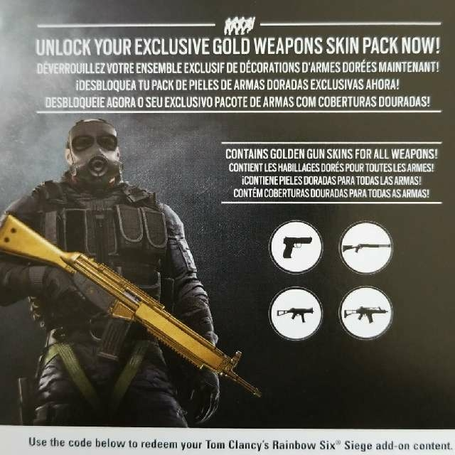 rainbow six siege gold weapon skins pc uplay games gameflip