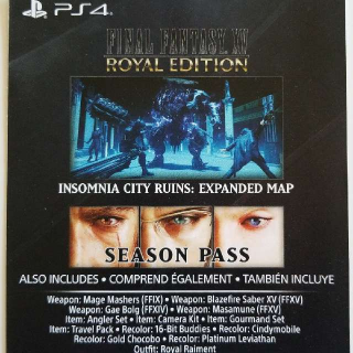 Final Fantasy XV Season Pass + Royal Edition Upgrade + Extras