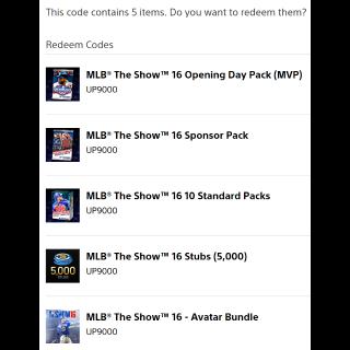 MLB The Show 16: MVP Edition Upgrade + 31 MLB Themed Avatars