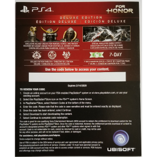 For Honor Deluxe Edition Upgrade + Preorder Bonus