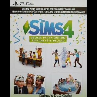 The Sims 4 Deluxe Party Edition Upgrade + Preorder Bonus