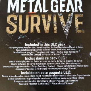 Metal Gear Survive Survival Pack DLC