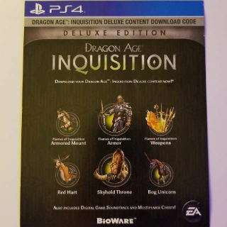 Dragon Age Inquisition Deluxe Edition Content