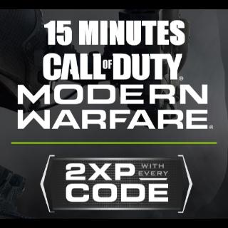 15 Minutes 2XP Token in Modern Warfare