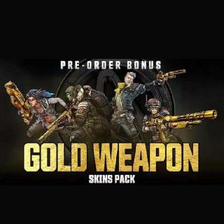 Gold Guns Skins In Borderlands 3