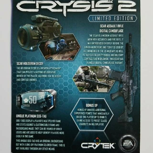 Crysis 2 Limited Edition DLC - PS3 Games - Gameflip