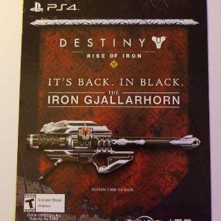 Destiny Iron Gjallarhorn Exotic Weapon DLC
