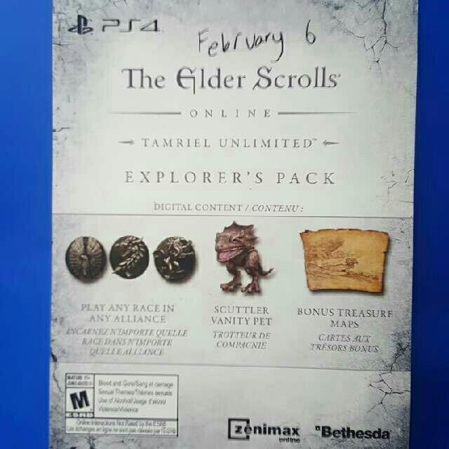 Explorer's Pack DLC for The Elder Scrolls Online - PS4