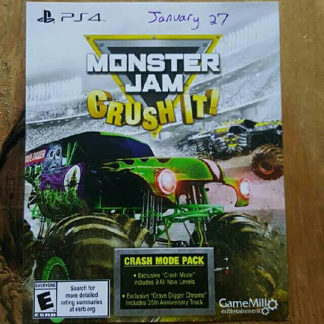 Monster Jam Crush It Crash Mode Pack - PS4 Games - Gameflip