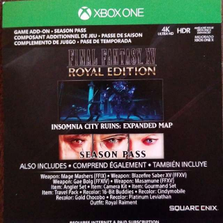 Final Fantasy XV: Royal Edition + Season Pass Upgrade