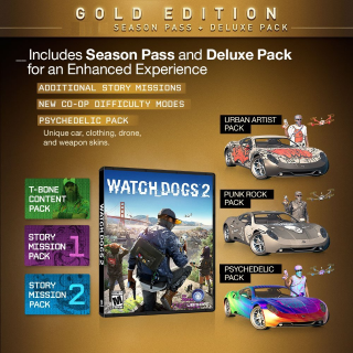 Watch Dogs 2 Season Pass + Preorder Bonus DLC