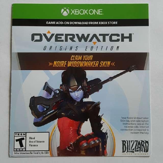 Noire Widowmaker Skin For Overwatch - XBox One Games